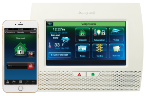 Lynx Touch 7000 Ready To Arm With Honeywell Total Connect Home Alarm System